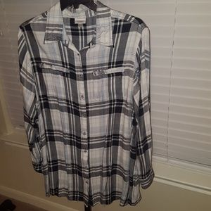 Avenue plaid tunic top